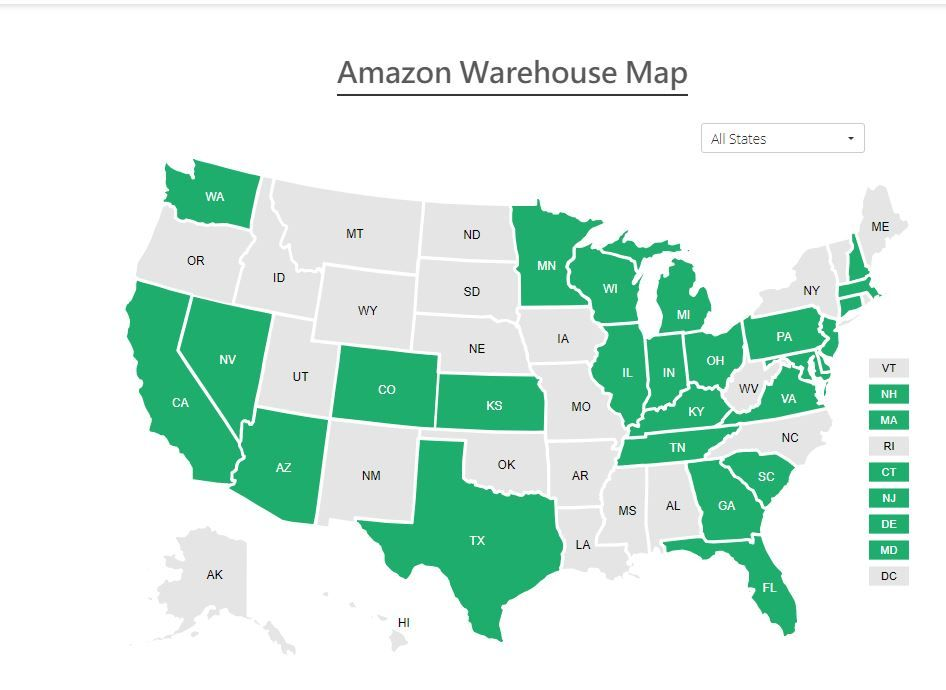Which Cities States Have An Fba Fulfillment Center Find Out