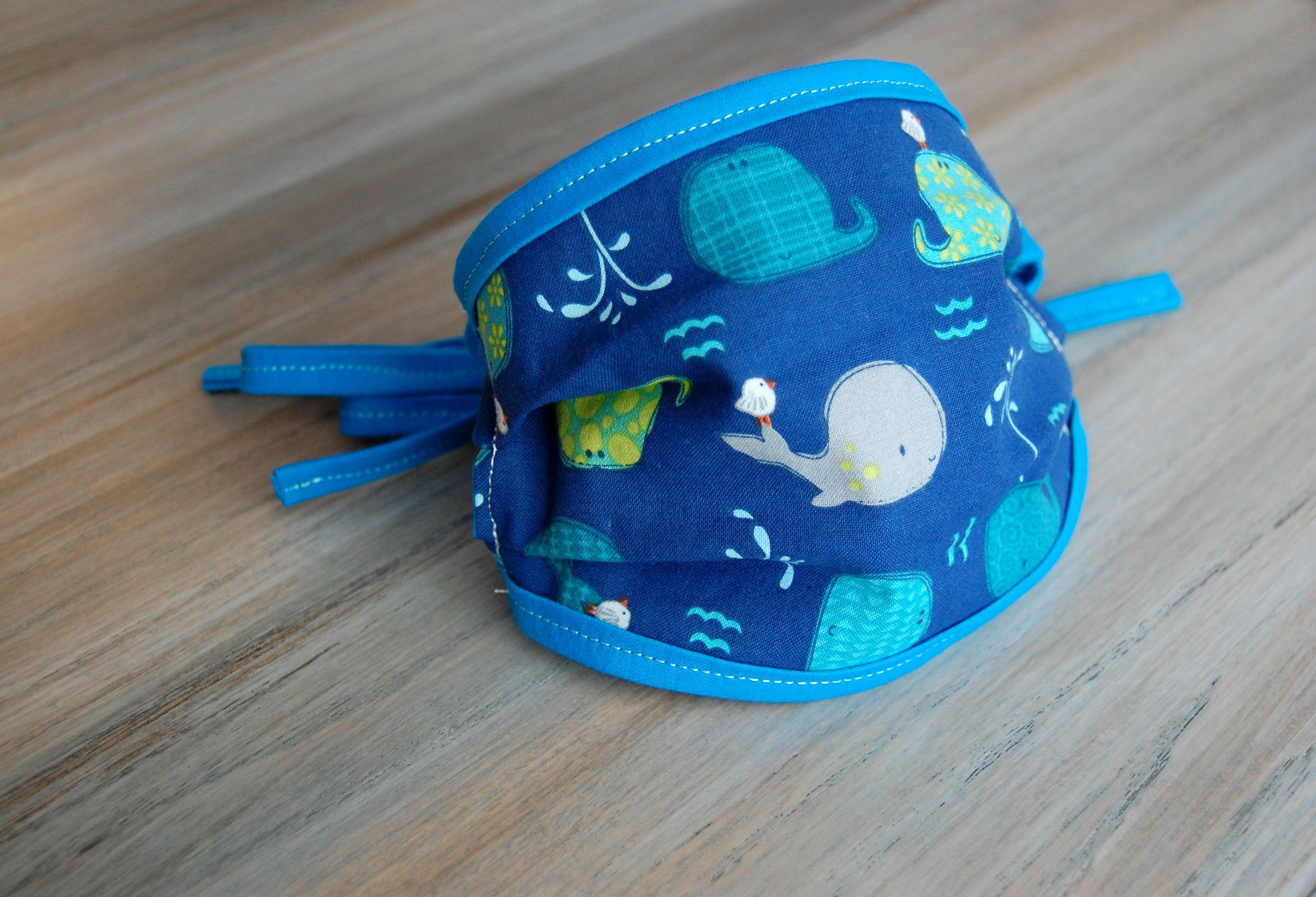 Photo of Boy's Face Mask ~ FREE SHIPPING ~ 3 Layer Fabric Face Mask with Ties ~ Washable ~ Child Sizes ~ Baseball ~ Whales ~ Woodland ~ Boys ~ Child