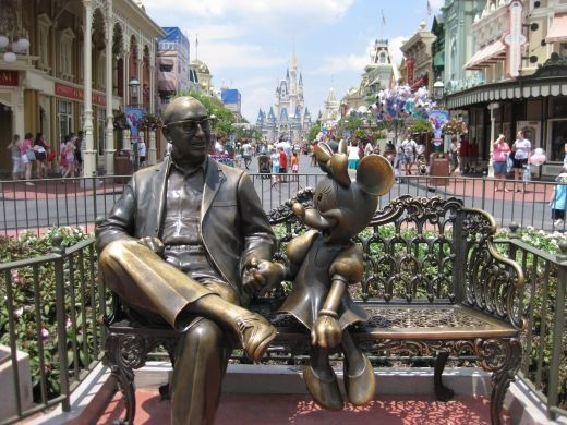 Sharing The Magic Statue Of Roy O Disney Sitting With Minnie Mouse