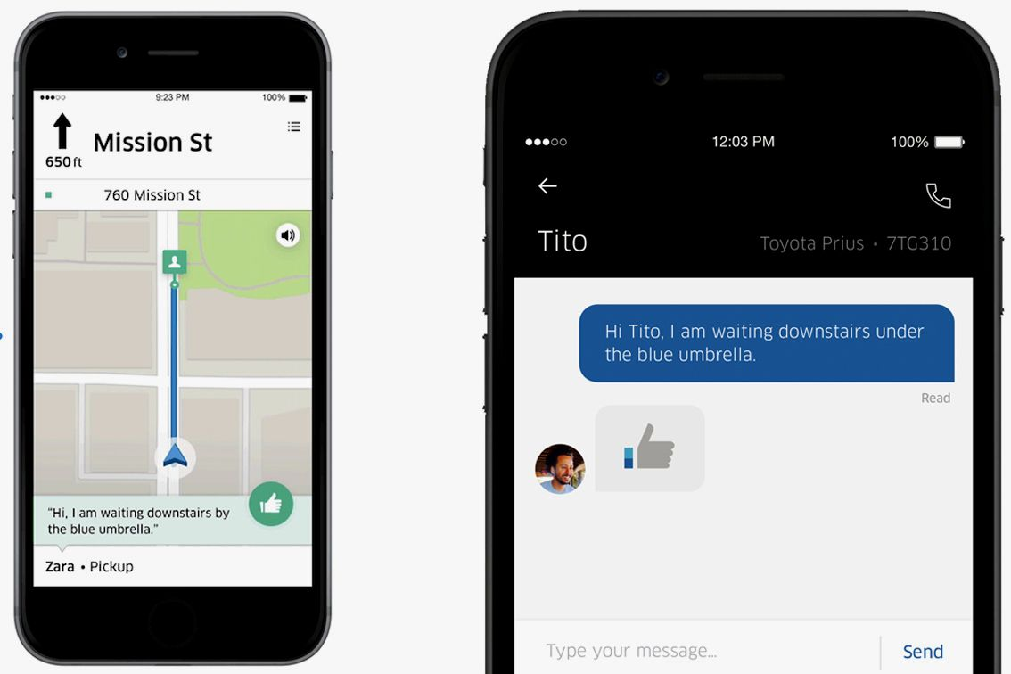 Uber Just Got Less Awkward Thanks to an InApp Messaging