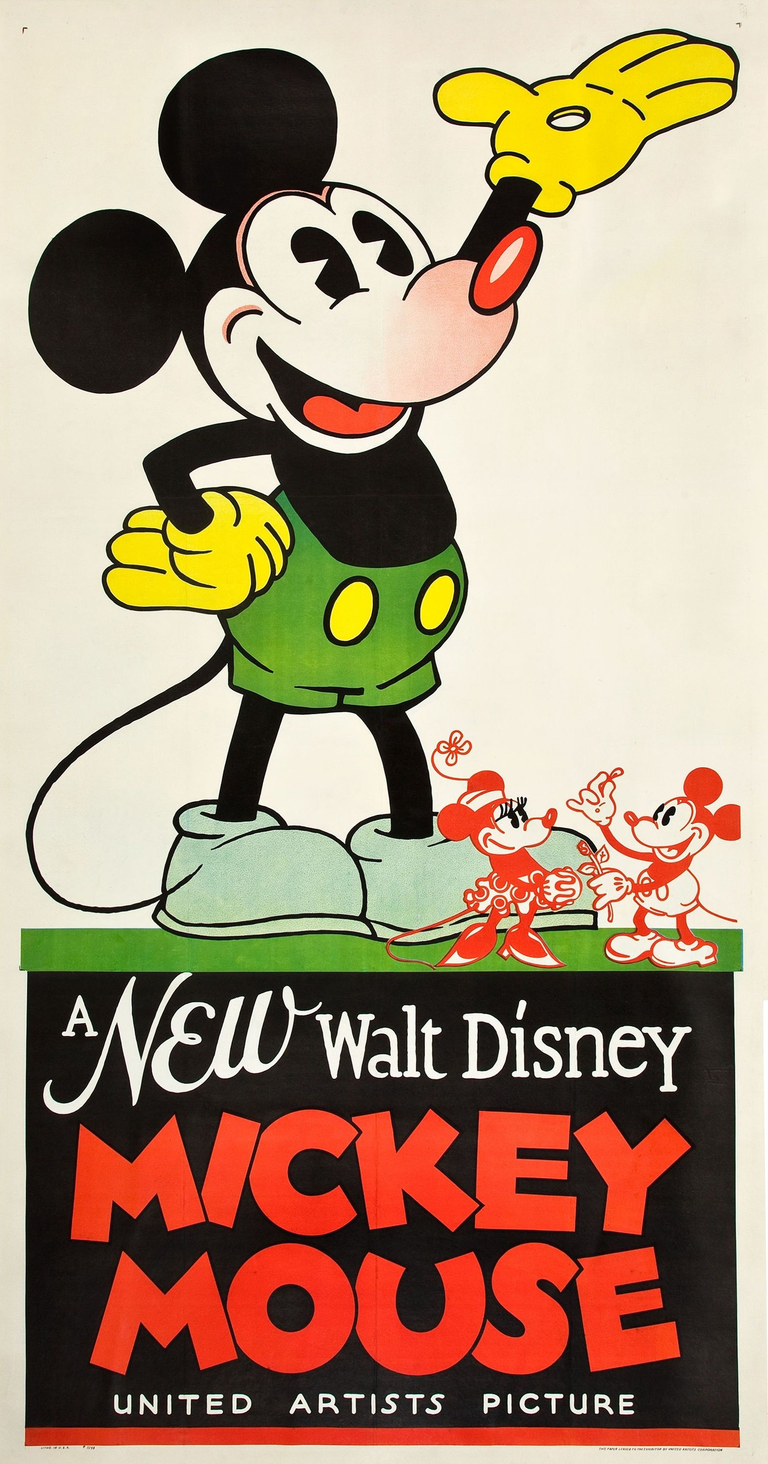 Mickey mouse stock poster 1932 mickey mouse movies mickey