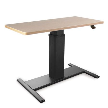 Spring Height Adjustable Desk Is A Sit/stand Ergonomic Office Desk. The  Surface Can Be Positioned To Accommodate Various Sizes Of Seated Or  Standing Users.