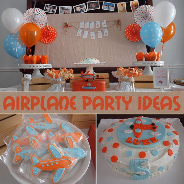 Boys Airplane Birthday Party Ideas Birthday party ideas
