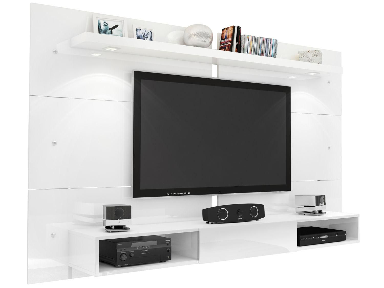 Painel Para Tv At 60 Illumin 1 Prateleira 1 Nicho Com  # Muebles Caemmun