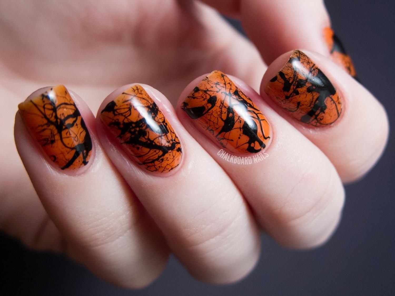 Diy Halloween Nails Diy Halloween Nail Art Halloween Nail Designs Short Nails Halloween Nails Diy Splatter Nails Halloween Nail Designs