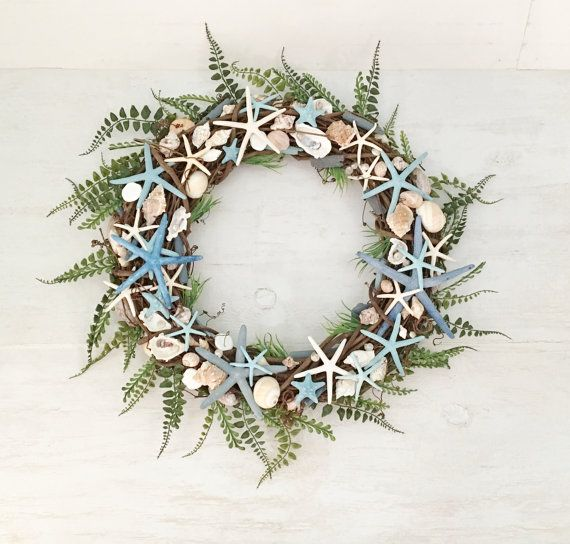 a wreaths coastal wreath add design to handmade celebrate doors seashells and door make touch hgtv