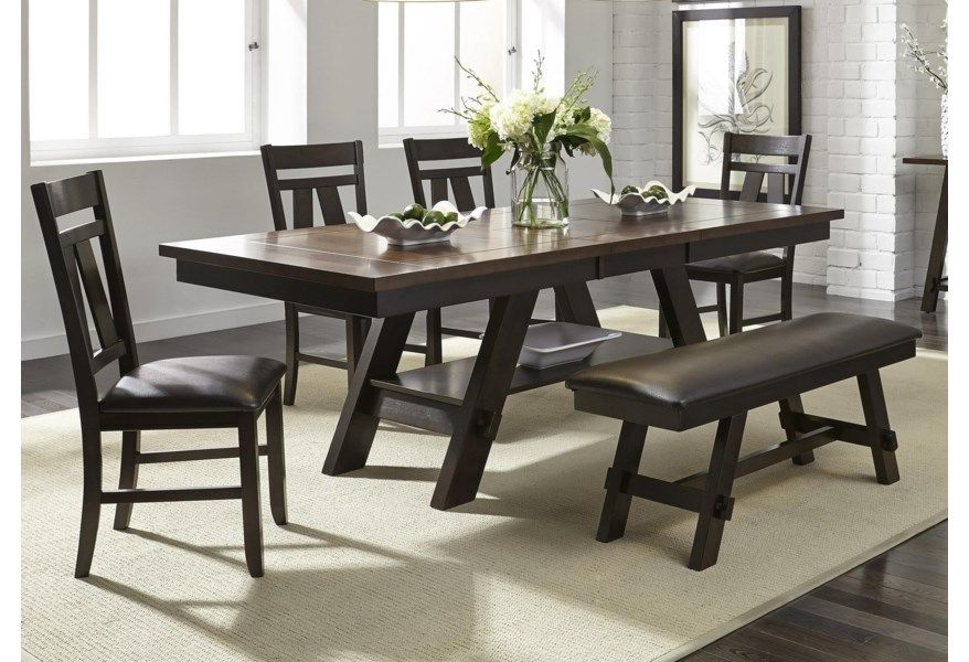 lawson 5 piece dining set includes table and 4 side chairs