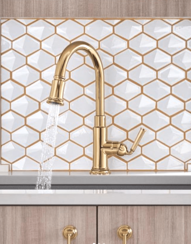#kitchen #faucet Brizo kitchen faucet in a polished gold ...