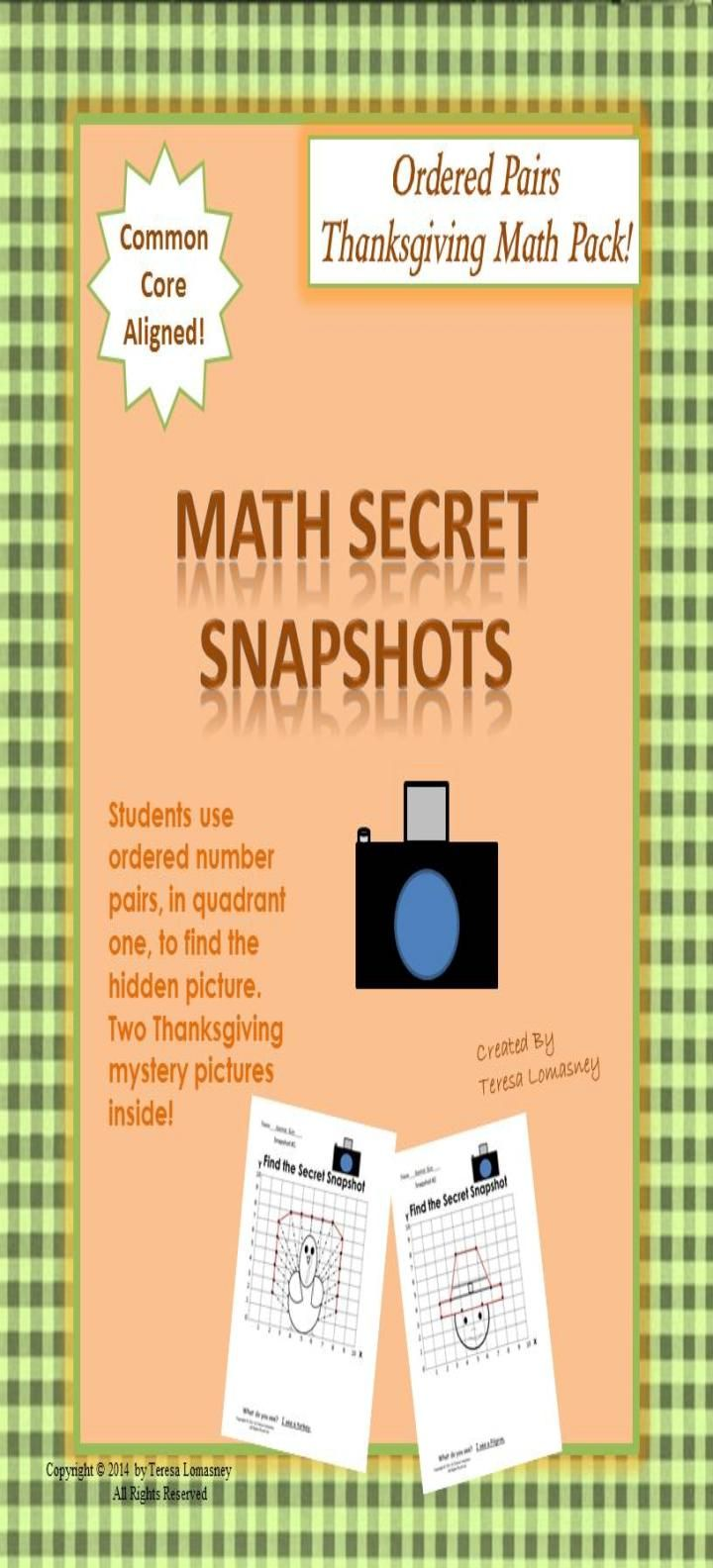 Thanksgiving Math Mystery Pictures Ordered Pairs | Thanksgiving ...