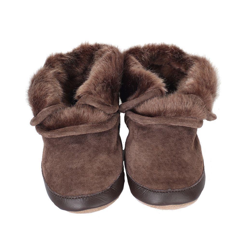 9d020cd6f42d Robeez  Soft Soles - Brown Cozy Ankle Bootie