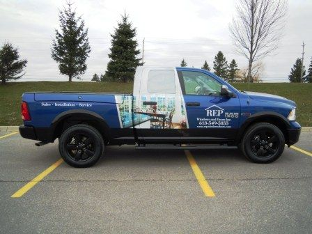 This great truck wrap done by Speedpro Signs Kingston Ontario for REP Windows and Doors! & This great truck wrap done by Speedpro Signs Kingston Ontario for ...