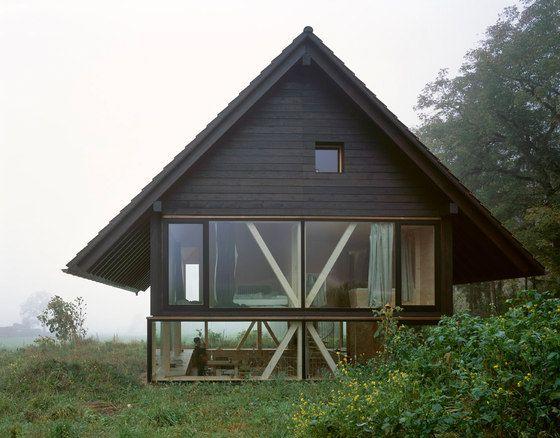Houten Woning Ideeen : Half verdiept houten huis het houten huis pinterest huizen