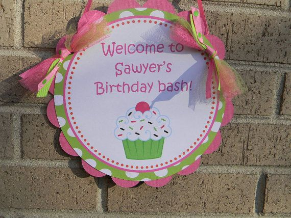 Sweet Cupcake Collection Welcome Sign Bright by inspirationsdesign, $11.00