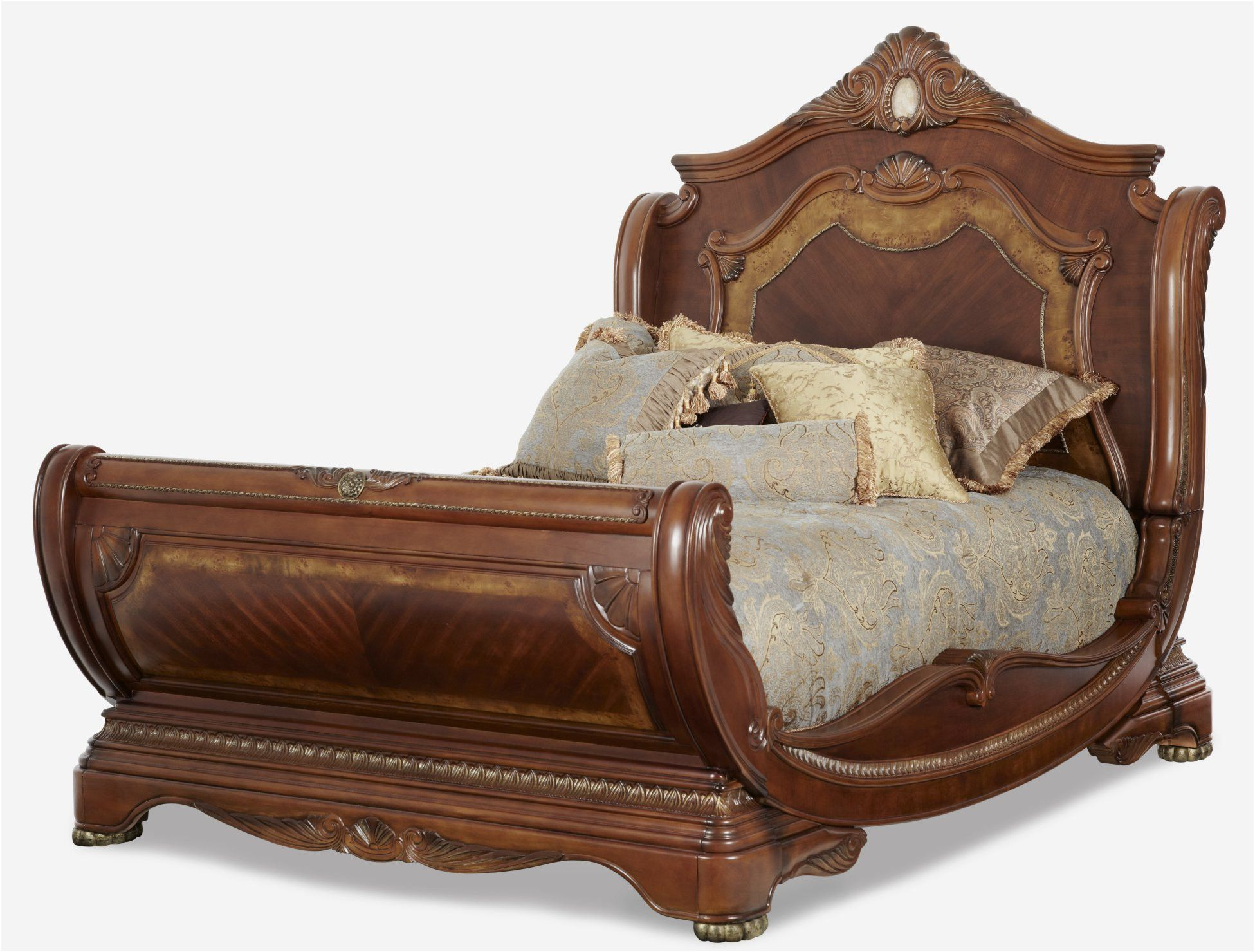 Cortina Cal King Sleigh Bed by Aico | bed rm | Pinterest