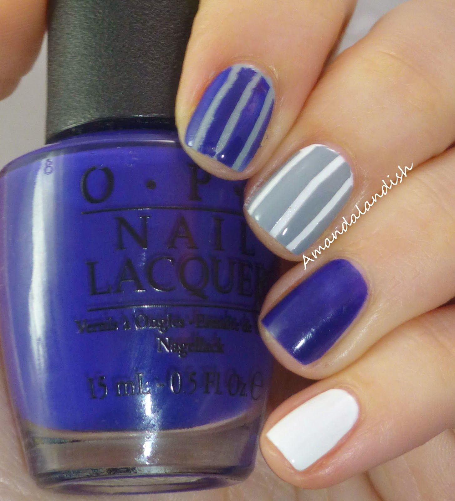 Yankee pinstripes with @OPI Products Eurso Euro, @Sephora by @OPI ...