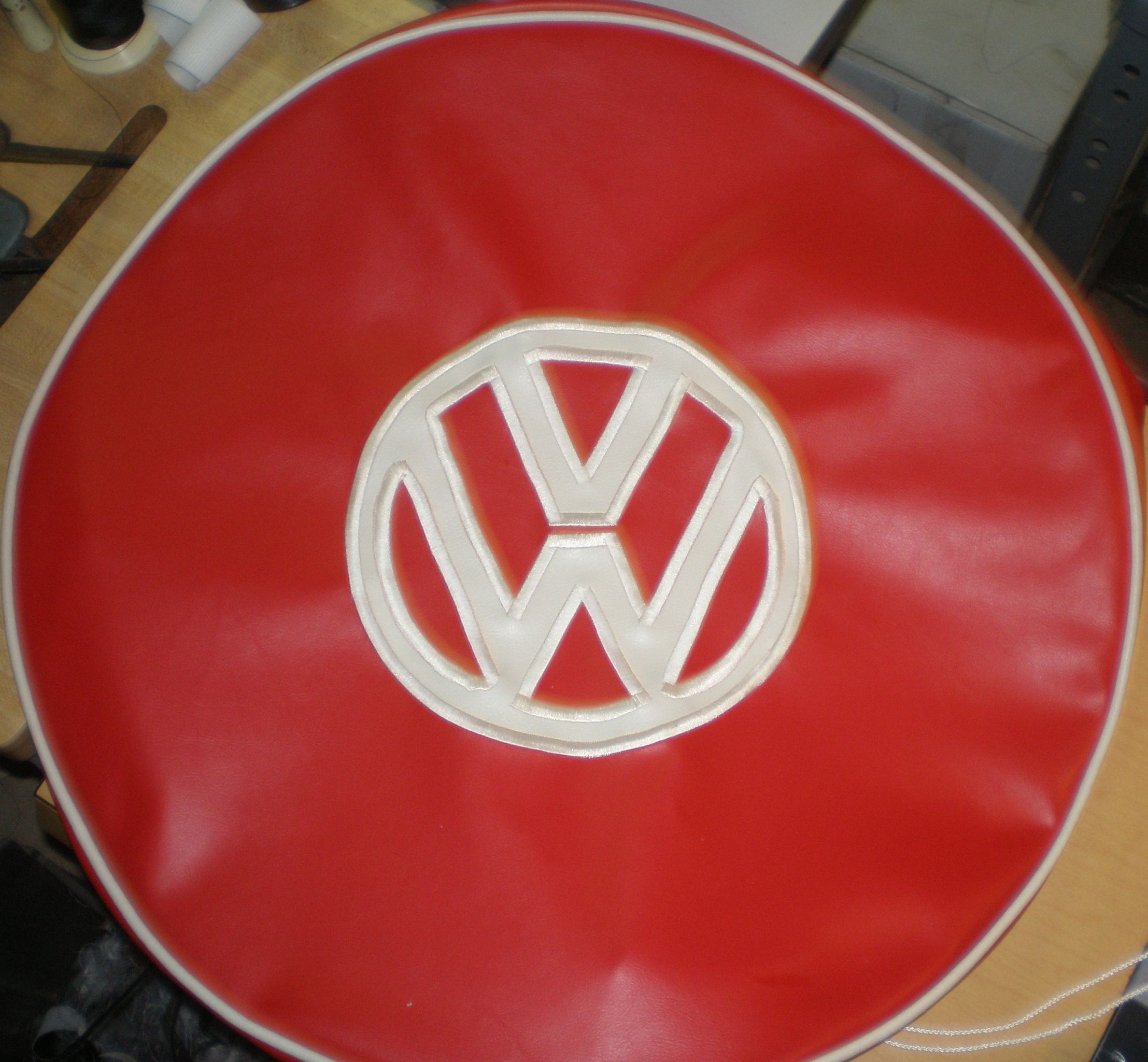 Threads To Treads, Custom Tire Cover Art! Sparky's Vintage