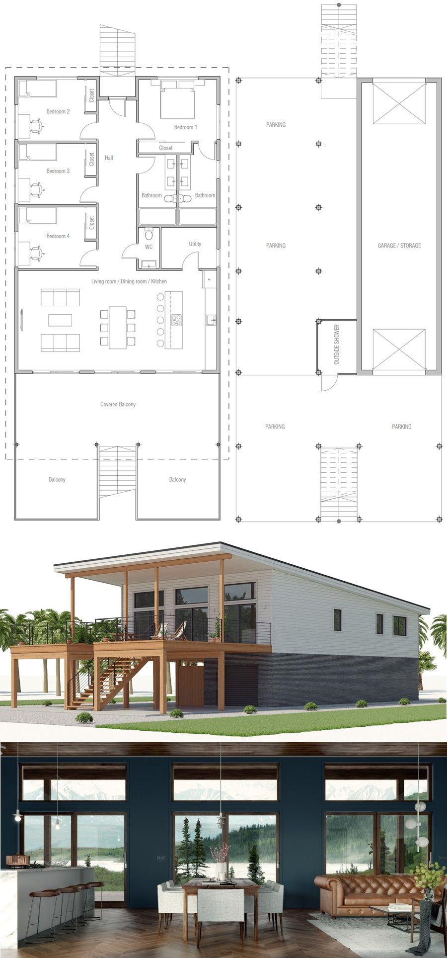 Floor plan grundrisse wohnen moderne hauspläne traumhaus pläne kleine hauspläne haus