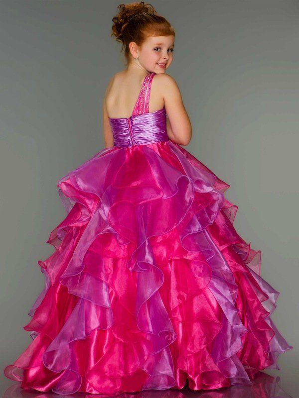 Caliente / rosa / púrpura princesa niña de las flores de baile ...