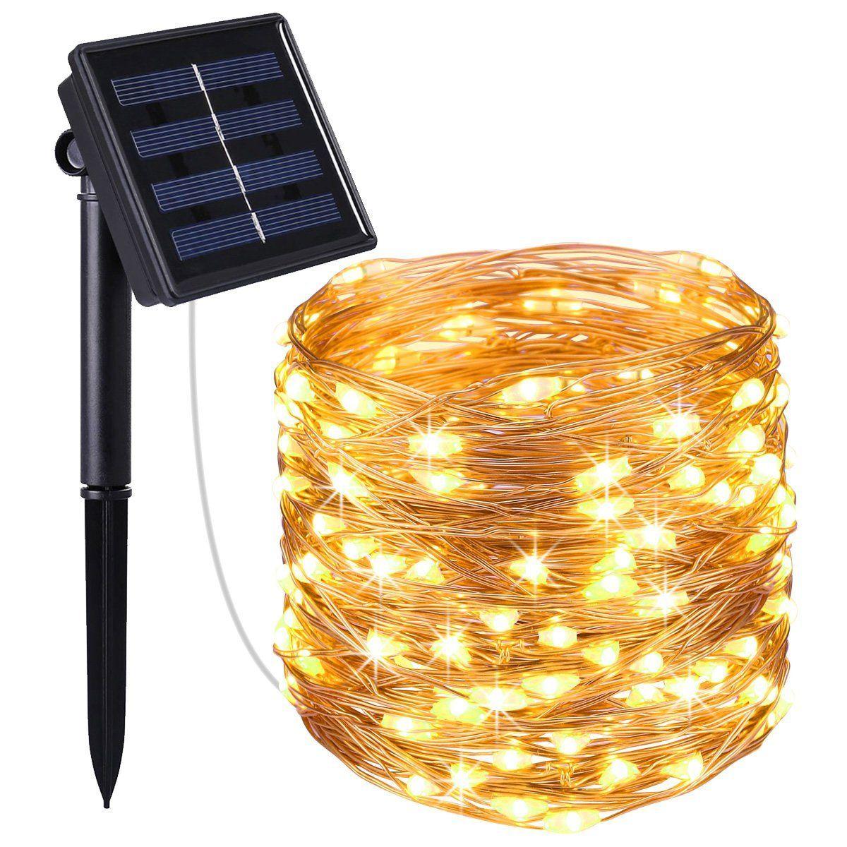 AMIR Solar Lichterkette, 33ft 100 LED Solar Lichterkette Weihnachten ...