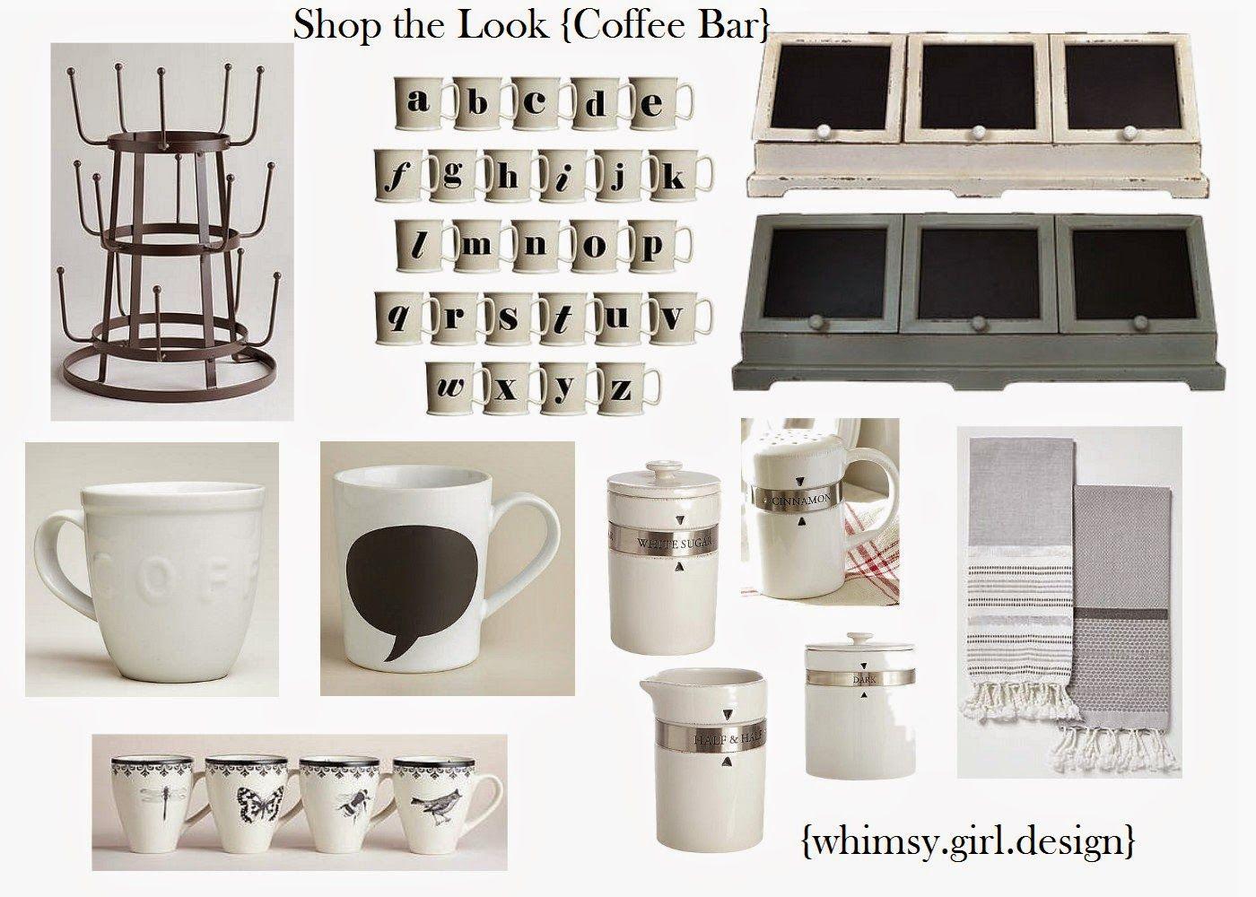 Shop The Look Coffee Bar Coffee Bar Design Decor Design