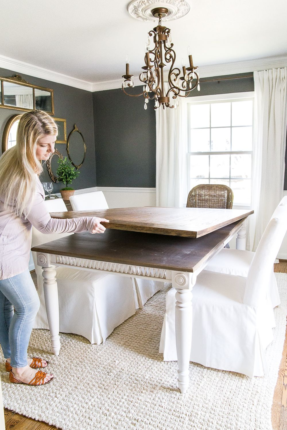 Diy Retroed Dining Table Top