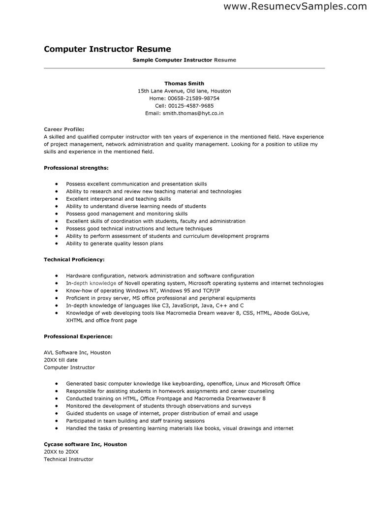 Resumes Examples Skills Abilities  HttpWwwResumecareerInfo
