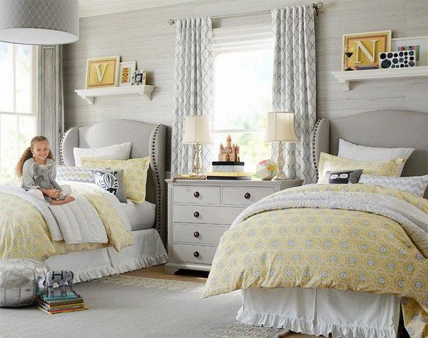 Best Pretty Shared Bedroom Designs For Girls Grey Bedroom 640 x 480