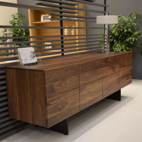 Velocity Modern Walnut Sideboard 190cm Dining Room Console Table