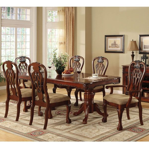 Georgetown English Cherry Formal Dining Set  Formal Dining Tables Amazing Cherry Wood Dining Room Set Inspiration Design