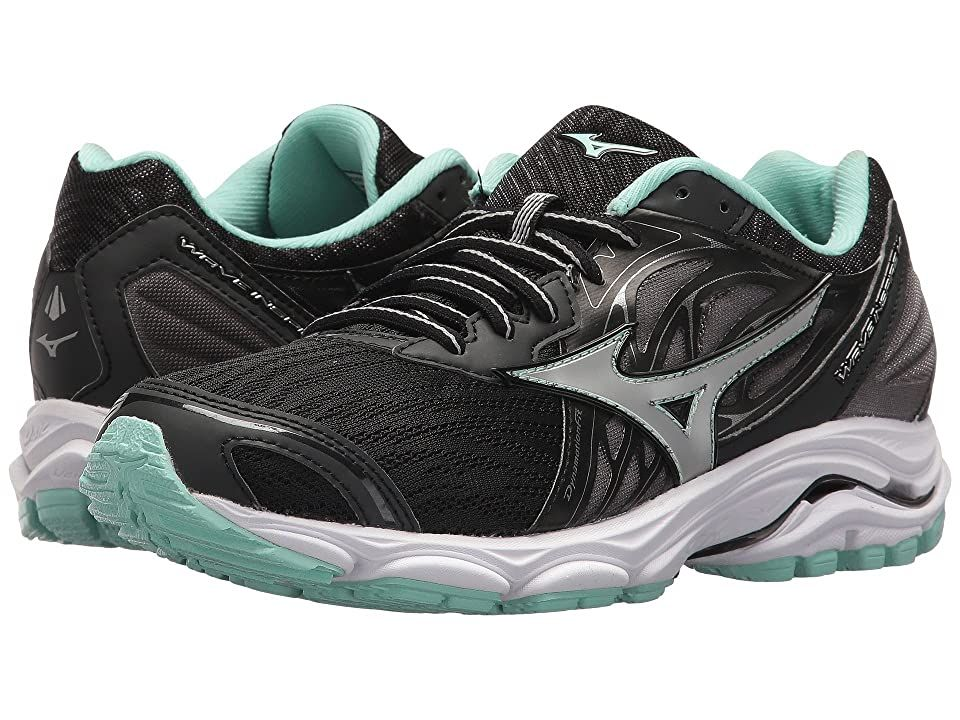 Mizuno Wave Inspire 14 Black Silver Women S Running Shoes Enjoy A Smoother Ride With Th In 2020 Mizuno Running Shoes Women Mizuno Running Shoes Womens Running Shoes