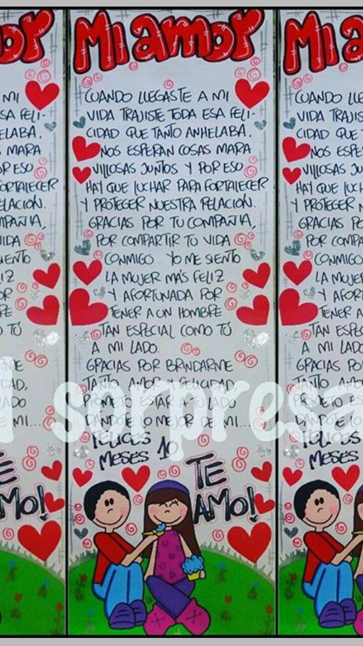 Cartasromanticas Cartel Para Mi Novio Cartas Para Novio Carteles De Amor