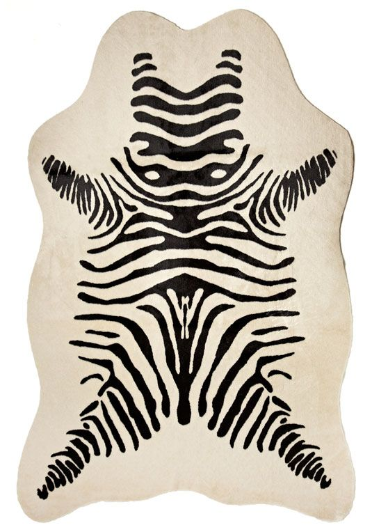 Faux Zebra Hide Rug 58 X 93 Fabulousfurs