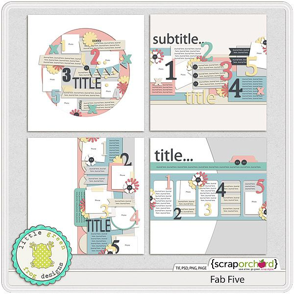 Fab Template: Fab 5 By Little Green Frog Designs