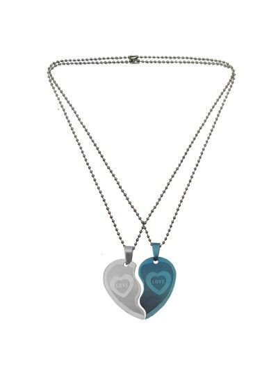 Couple Jewellery Broken Heart Dual Pendant Rs 174 Gift For Him