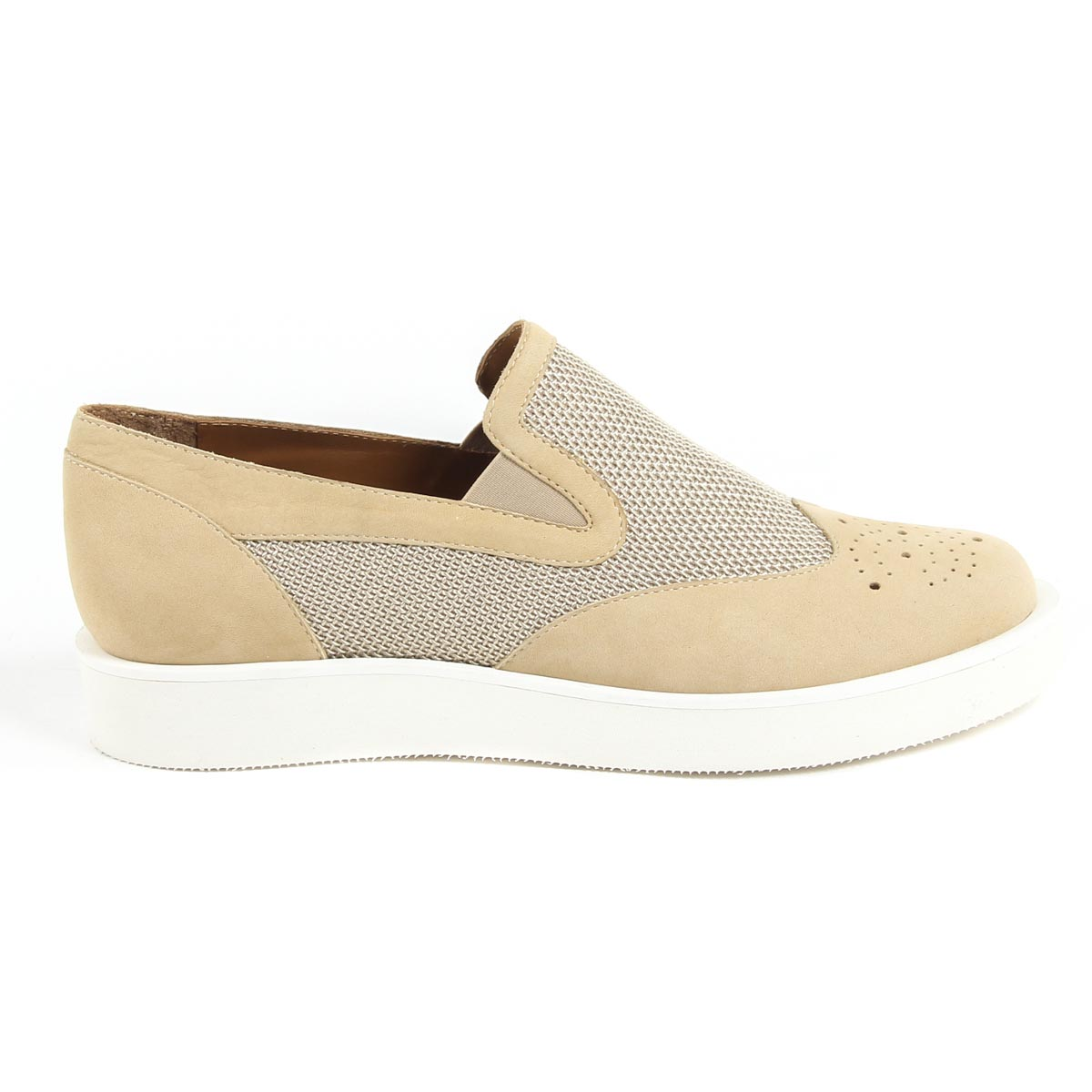 fed6894a528 V 1969 Italia Womens Slip On Sneaker 302126 NABUK YOMO SAND ARG ...