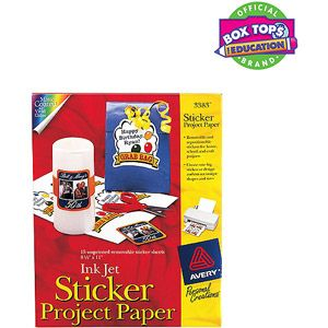 Avery Sticker Project Paper, 15-Pack Can order from WalMart