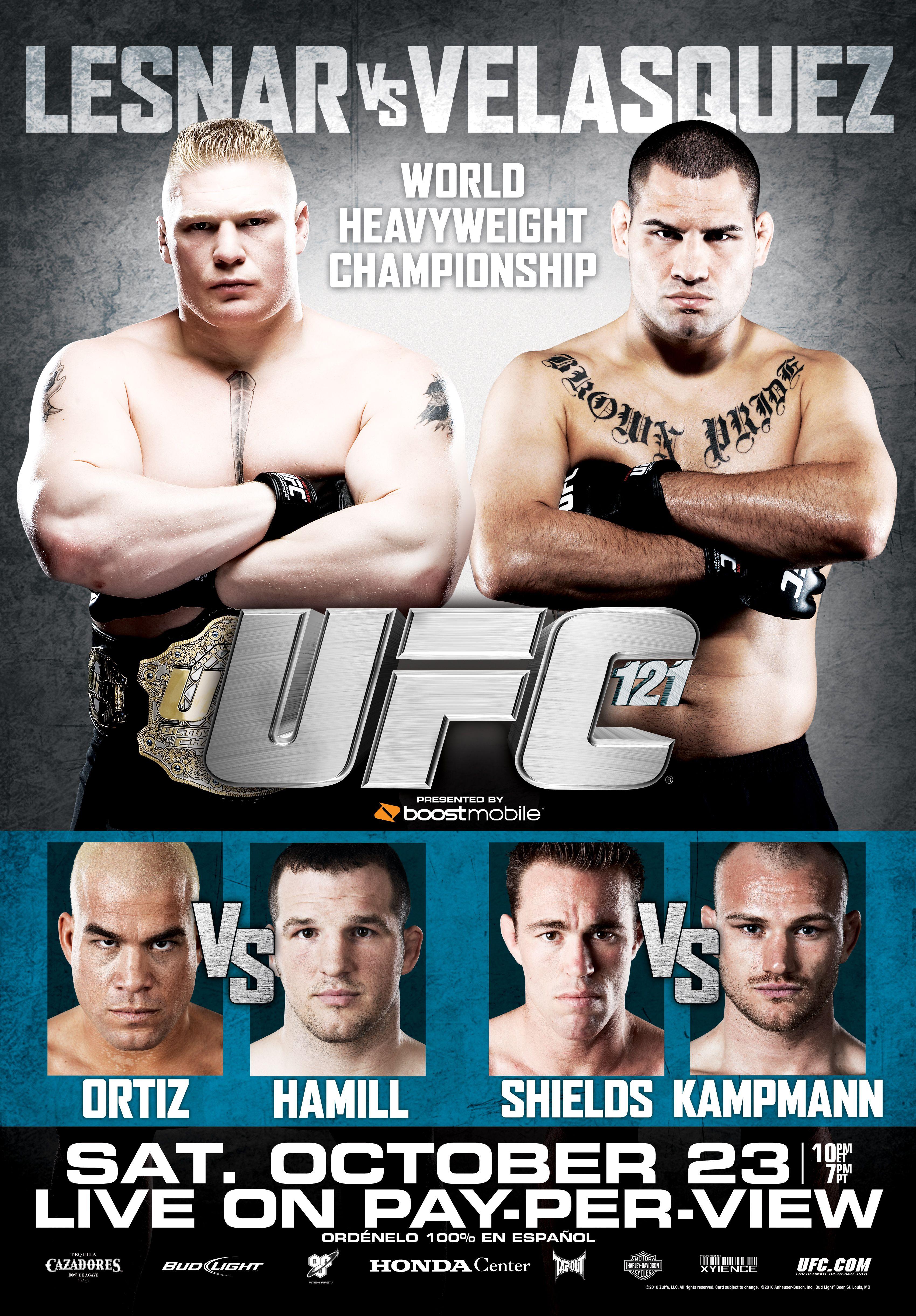 UFC 121: Lesnar Vs. Velasquez ...