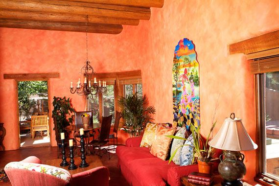 Interesting Mexican House Colors For Living Room And Dining Space Decorating Ideas With Natural