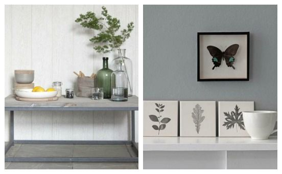 Displays and grey wall