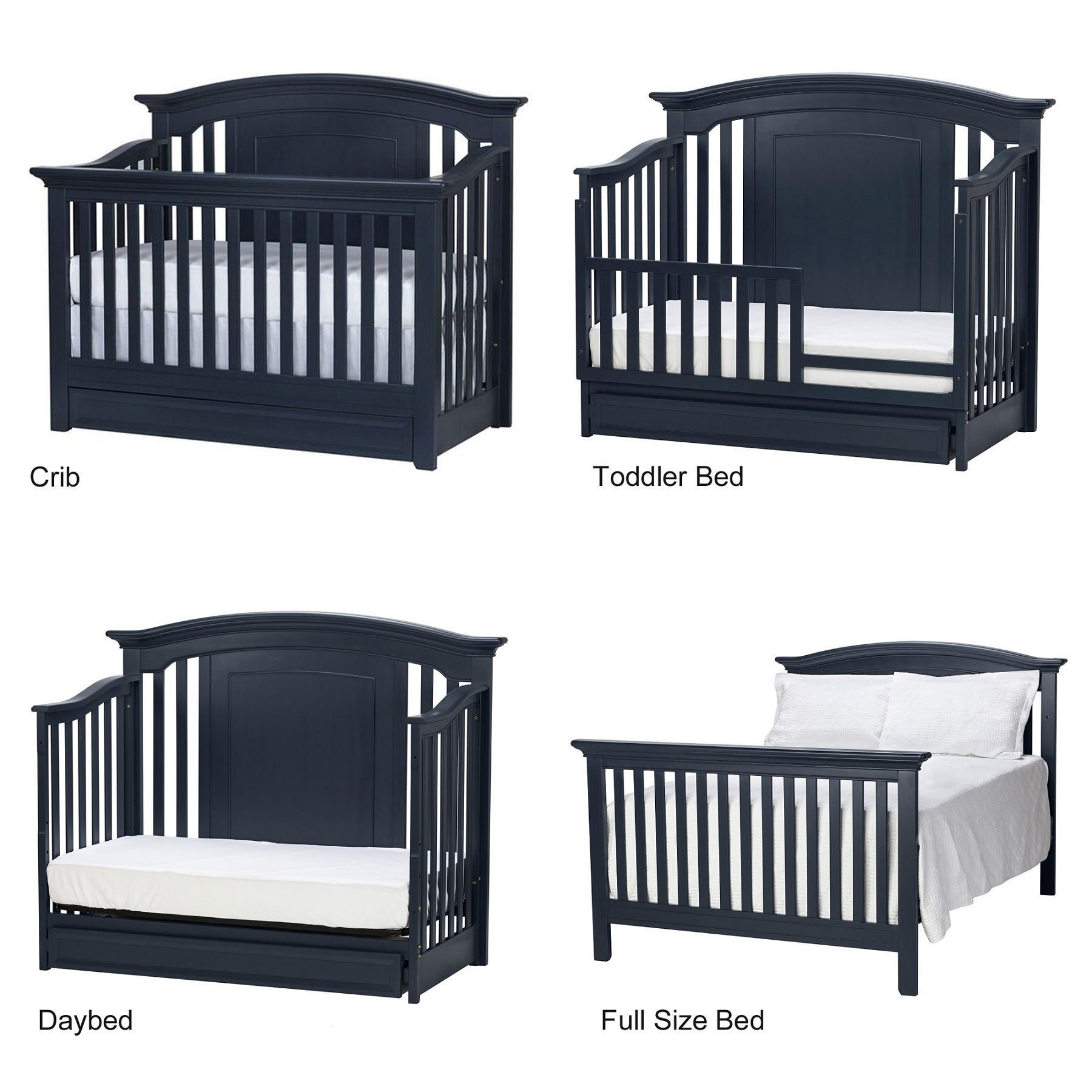 Baby Cache Harbor 4 In 1 Convertible Crib With Storage Drawer