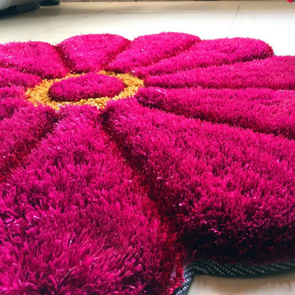 Fluffy Living Room Carpetsshag Carpetoriental Carpet Rug Area Rug Nonskid Round Sunflower Bedroom Living Room Bedside En Rugs On Carpet Area Rugs Home Decor #sunflower #living #room #rug