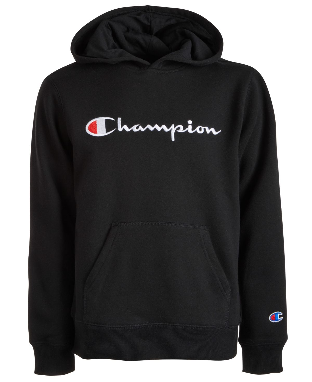 Champion Big Boys Embroidered Pullover Fleece Hoodie & Reviews - Sweaters - Kids - Macy's
