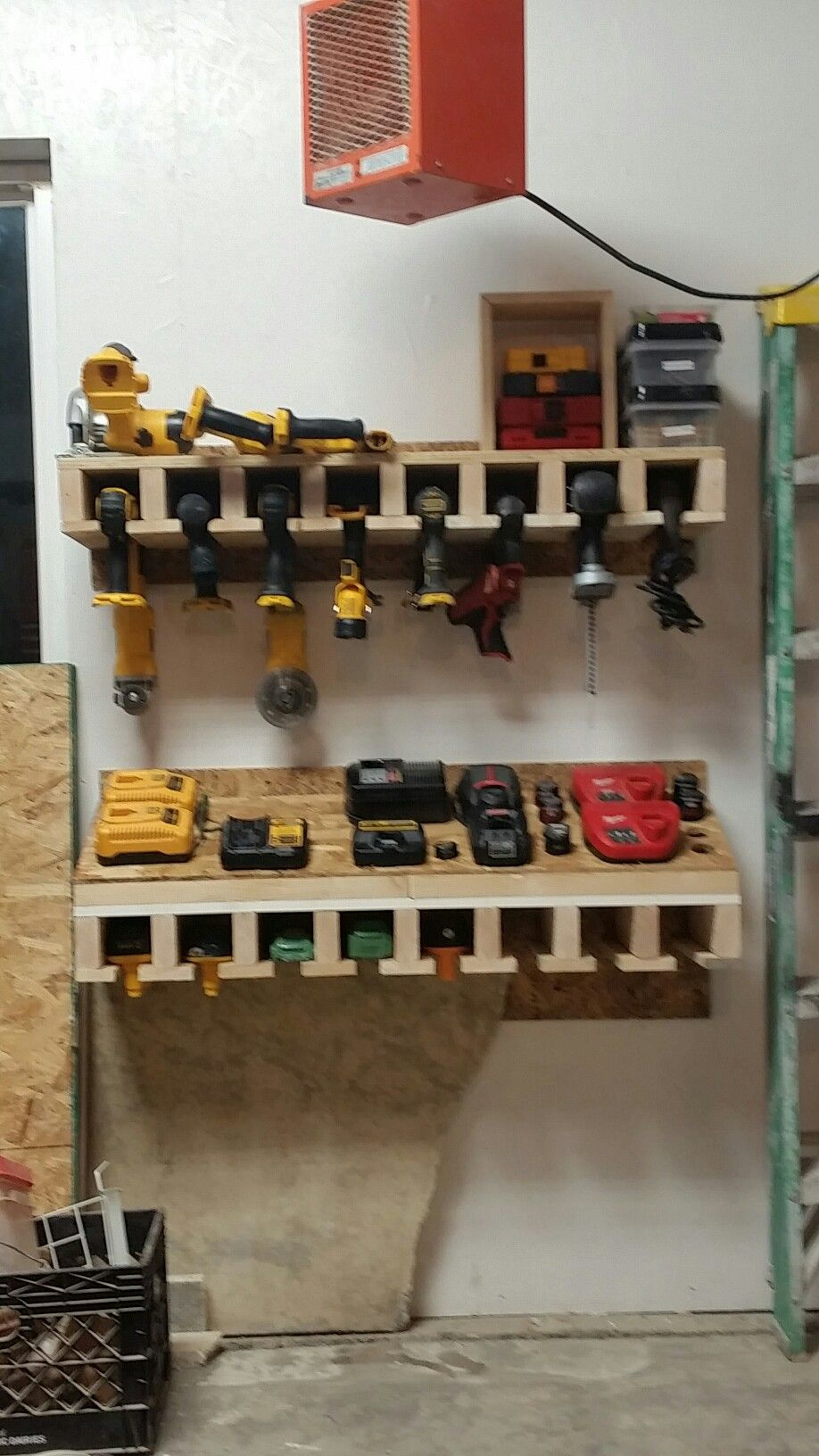 Drill And Battery Charging Station Home Projects