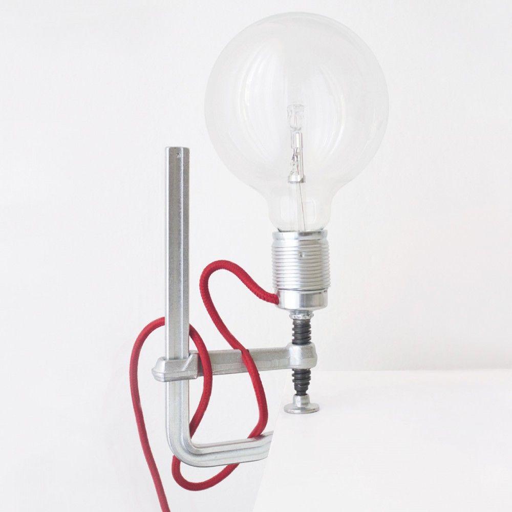 clamp lamp attache en acier installation en aluminium c ble gottliebdunkel pinterest. Black Bedroom Furniture Sets. Home Design Ideas