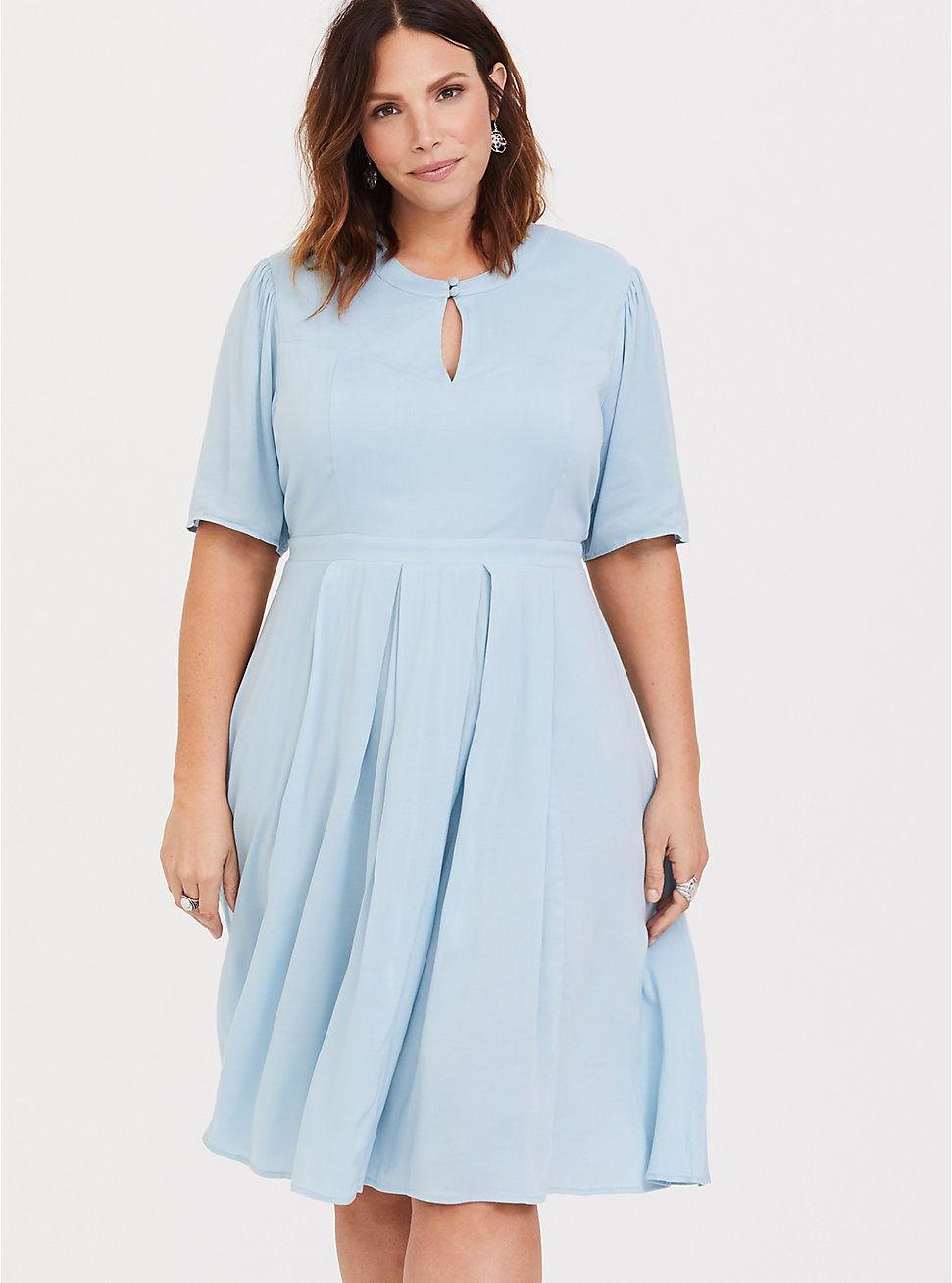 Outlander Blue Claire Skater Dress | Blue plus size dresses ...