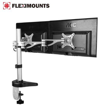 Fleximounts M13 Clamp Dual Monitor Arm Desk Mounts Stand For 10 27