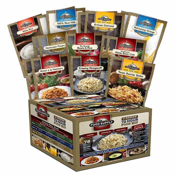 78 Total Servings 72 Hour - 2 Person Food Kit