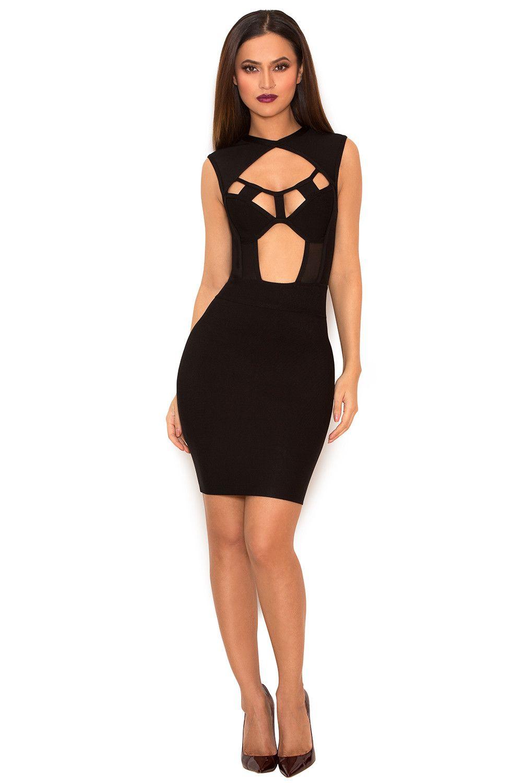 Clothing bandage dresses uaravenau black cut out bandage dress