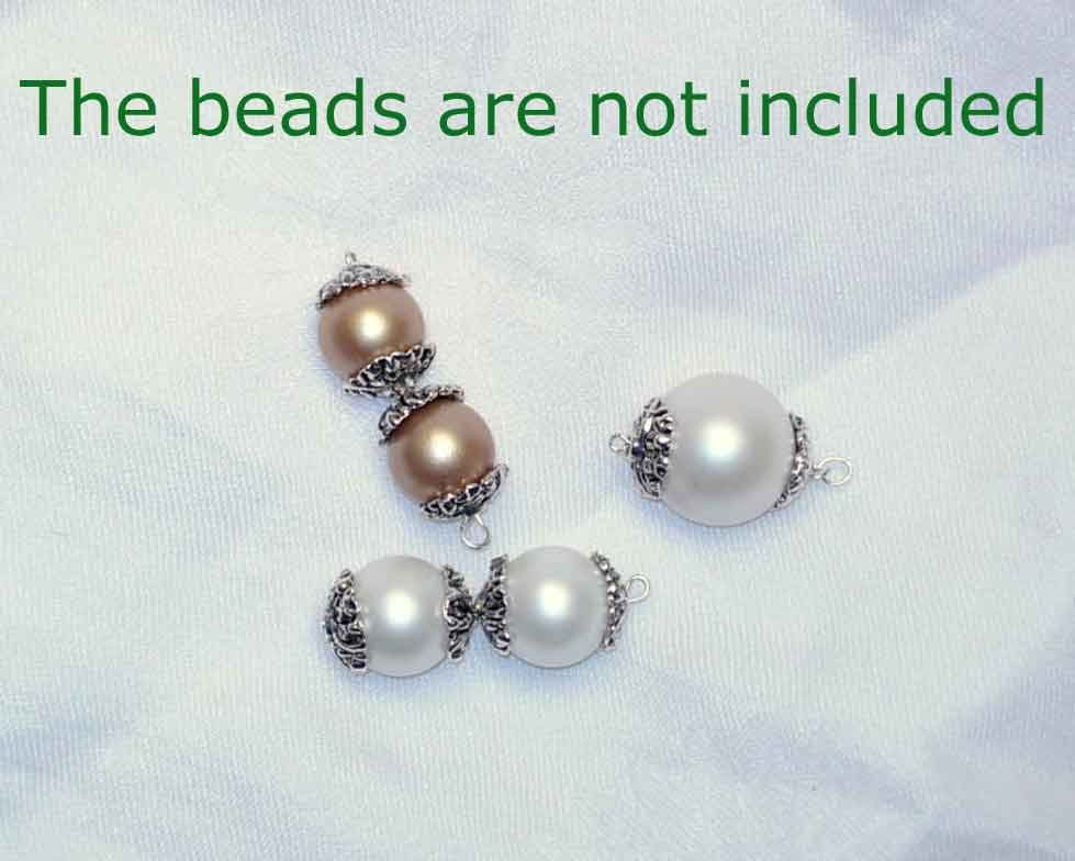 Items Similar To 20 Bead Caps Antique Silver Vines And Petals Beading Stringing Supply Supplies Crafts Jewelry Charms Material Metal