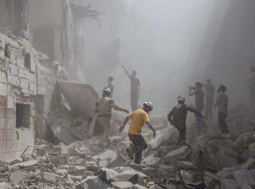 Zerstörtes Krankenhaus in Aleppo
